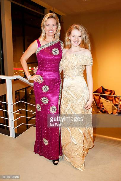 Carola Ferstl and her daughter Julia Ferstl arrive at the 23rd Opera Gala at Deutsche Oper Berlin on November 5 2016 in Berlin Germany