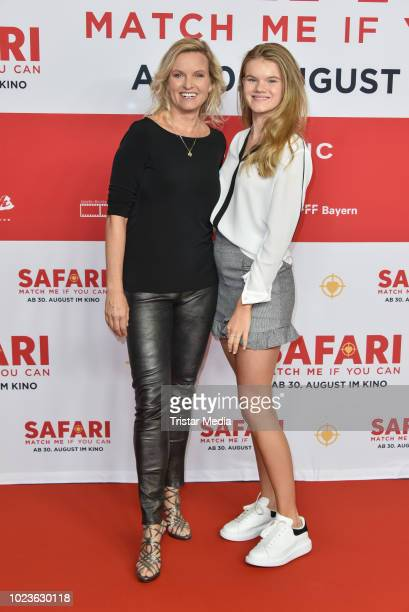 Carola Ferstl and her daughter Lilly Ferstl attend the 'Safari Match Me If You Can' premiere on August 25 2018 in Berlin Germany