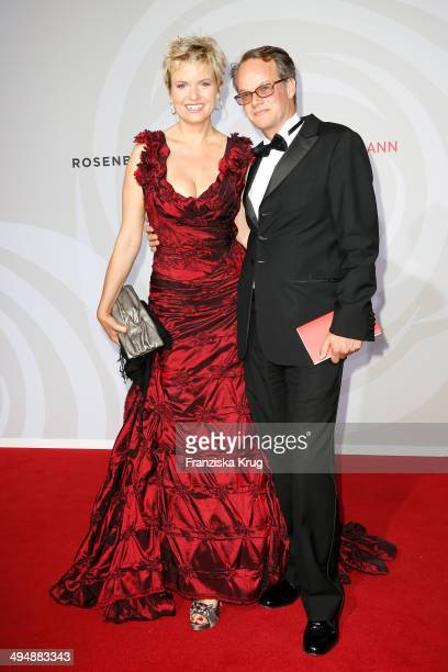 Carola Ferstl and her husband Anton Voglmaier attend the Rosenball 2014 on May 31 2014 in Berlin Germany