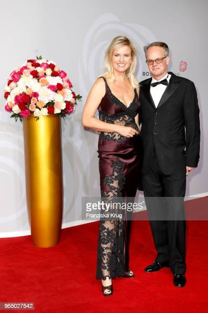 Carola Ferstl and her husband Anton Voglmaier attend the Rosenball charity event at Hotel Intercontinental on May 5 2018 in Berlin Germany