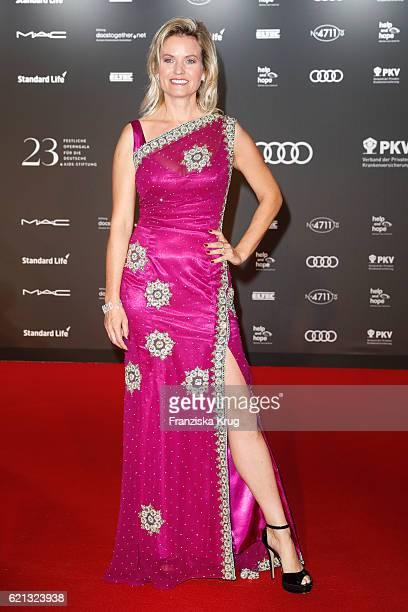 Carola Ferstl arrive at the 23rd Opera Gala at Deutsche Oper Berlin on November 5 2016 in Berlin Germany