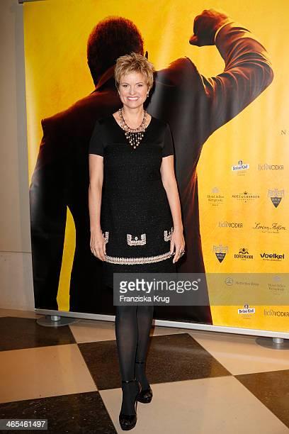 Carola Ferstl attends the Nelson Mandela Gala at the Hotel Adlon on January 27, 2014 in Berlin, Germany.