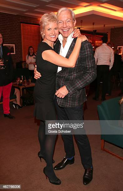 Carola Ferstl Jo Groebel during the birthday celebration of Maren Gilzer's 55th birthday on February 4 2015 in Berlin Germany Welcome Home Show at...