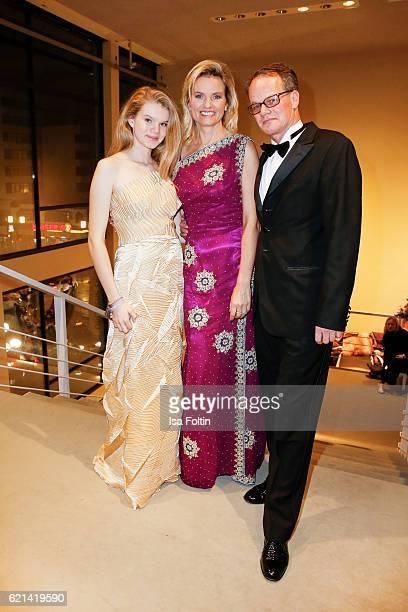 Carola Ferstl with her daughter Julia Ferstl and her husband Anton Vogelmaier arrive at the 23rd Opera Gala at Deutsche Oper Berlin on November 5...