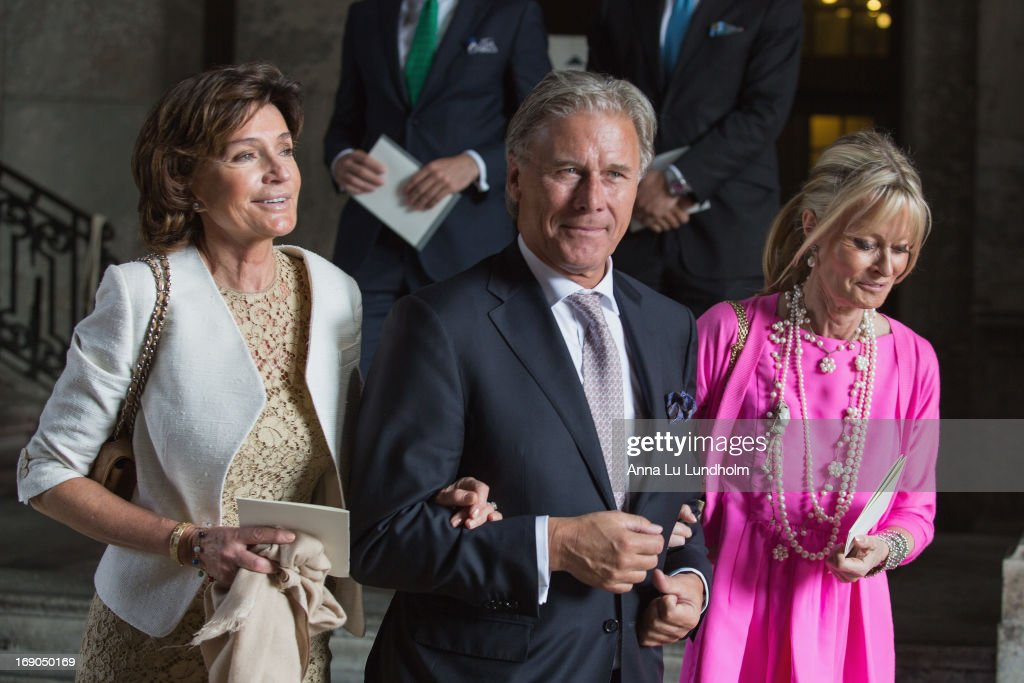 Carola Gottlieb and Fredrik Gottlieb visits the Wedding Preparations for H.K.H. Princess Madeleine and Mr. Christopher O'Neill on May 19, 2013 in Stockholm, Sweden.