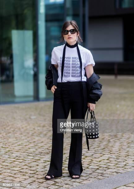 Carola Pojer wearing Ganni outside Designers Remix on August 10 2017 in Copenhagen Denmark
