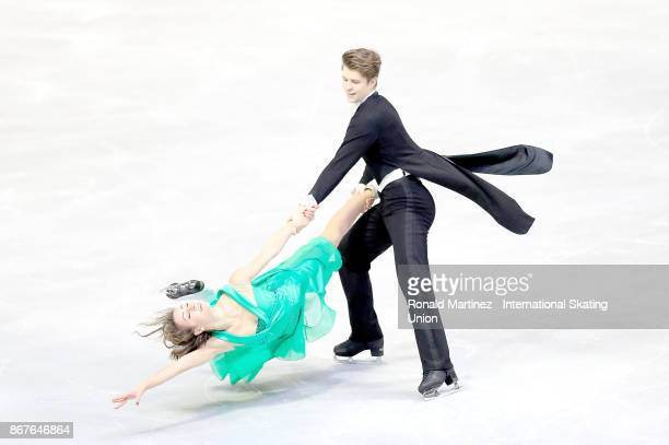Carolane Soucisse and Shane Firus of Canada perform in ice dance free skate during the ISU Grand Prix of Figure Skating at Brandt Centre on October...