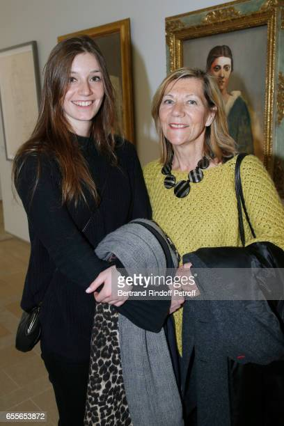 CarolAnn de Carolis and her daughter Josephine attend the 'Olga Picasso' Exhibition pivate view at Musee national PicassoParis on March 20 2017 in...