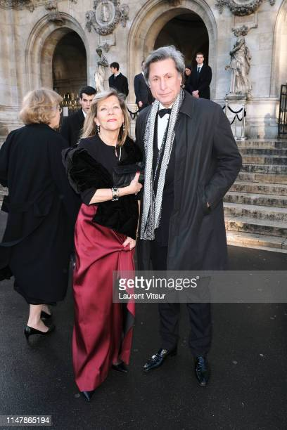 CarolAnne Hartpence and her husband Patrick de Carolis attend the 350th Anniversary Gala Outside Arrivals At Opera Garnier on May 08 2019 in Paris...
