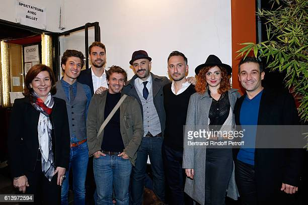 Carole Amiel actor of the show Benjamin Falletto Son of Yves Montand Valentin Livi Stage Director Marc Pistolesi actors of the show Ali Bougheraba...