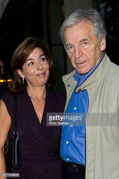 Carole Amiel and CostaGavras President of La Cinematheque francaise attend the 'Le Sauvage' screening at la cinematheque on September 26 2011 in...