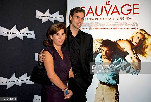 Carole Amiel and Valentin Montand attend the 'Le Sauvage' screening at la cinematheque on September 26 2011 in Paris France