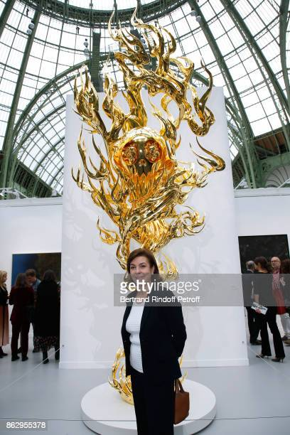 Carole Amiel attends the FIAC 2017 International Contemporary Art Fair Press Preview at Le Grand Palais on October 18 2017 in Paris France