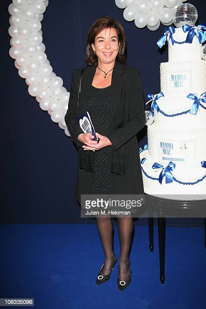 Carole Amiel attends the 'Mamma Mia ' Paris premiere at Theatre Mogador on October 28 2010 in Paris France