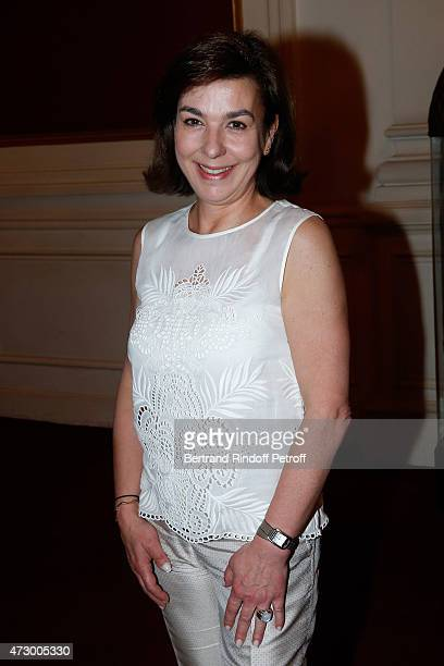 Carole Amiel attends the 'Open Space' Theater Play at Theatre de Paris on May 11 2015 in Paris France