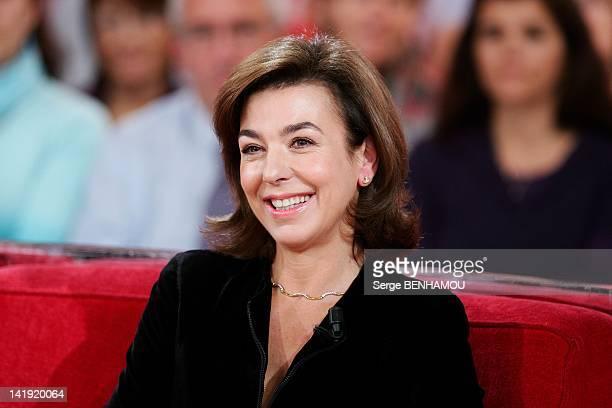 Carole Amiel attends Vivement Dimanche Tv show on October 19 2011 in Paris France