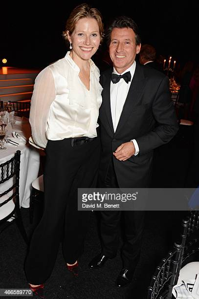 Carole Annett and Lord Sebastian Coe attend the BFI London Film Festival IWC Gala Dinner in honour of the BFI at Battersea Evolution Marquee on...