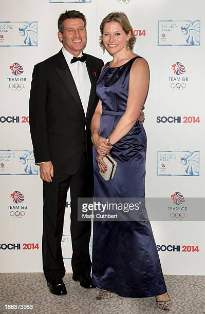 Carole Annett and Sebastian Coe attend the British Olympic Ball at The Dorchester on October 30 2013 in London England