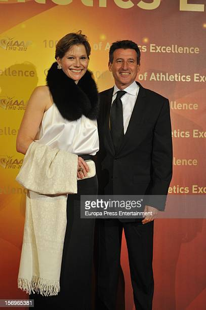 Carole Annett and Sebastian Coe attend the IAAF Centenary Gala at Cataluna National Art Museum on November 24 2012 in Barcelona Spain