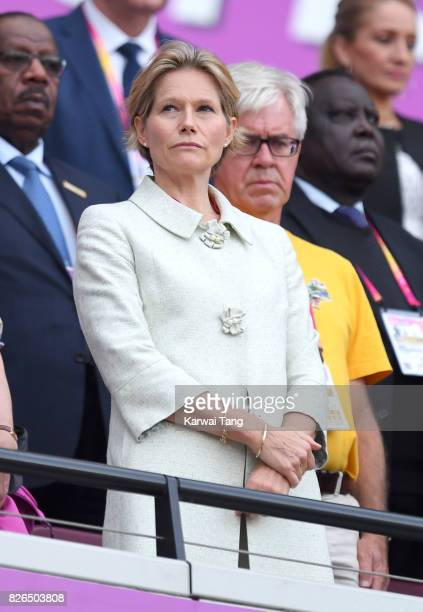 Carole Annett attends the IAAF World Athletics Championships at the London Stadium on August 4 2017 in London United Kingdom