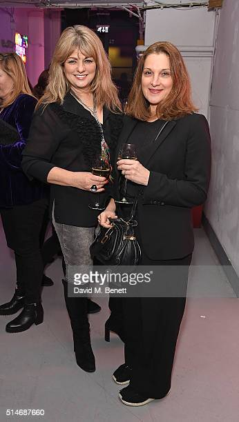 Carole Ashby and Barbara Broccolli attend the Soho Theatre Gala 2016 at The Vinyl Factory on March 10 2016 in London England