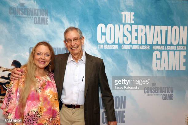 Carole Baskin and Howard Baskin attend a screening of THE CONSERVATION GAME at Eaton Hotel on June 24, 2021 in Washington, DC.