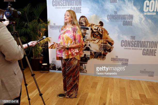 Carole Baskin attends a screening of THE CONSERVATION GAME at Eaton Hotel on June 24, 2021 in Washington, DC.