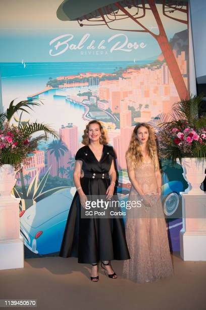 Carole Bouquet and Charlotte Tarbouriech attend the Rose Ball 2019 To Benefit The Princess Grace Foundation on March 30 2019 in Monaco Monaco