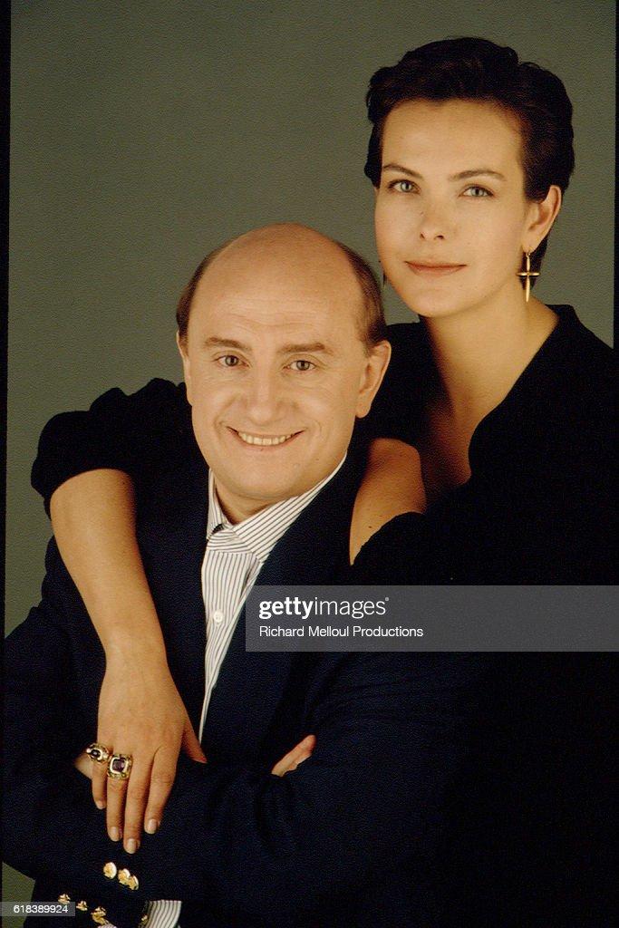 Actors Carole Bouquet and Michel Blanc : Photo d'actualité