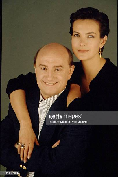 Carole Bouquet and Michel Blanc during the filming of Blanc's 1994 film Grosse Fatigue also known as Dead Tired