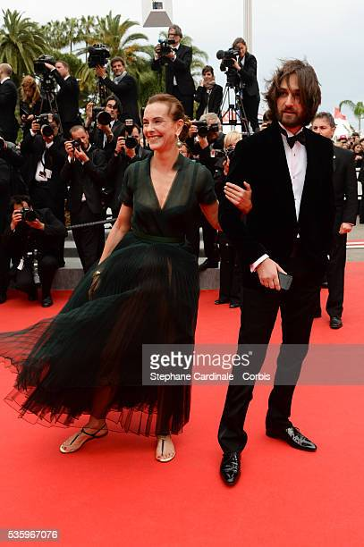Carole Bouquet and son Dimitri Rassam at the 'Maps to the Stars' Premiere during the 67th Cannes Film Festival