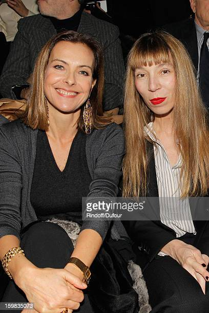 Carole Bouquet and Victoire de Castellane attend the Christian Dior Spring/Summer 2013 HauteCouture show as part of Paris Fashion Week at on January...