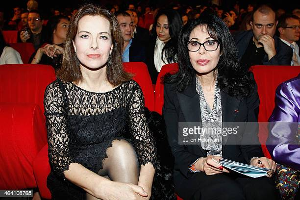 Carole Bouquet and Yamina Benguigui attend 'Les Lumieres 2014' Cinema Awards on January 20 2014 in Paris France