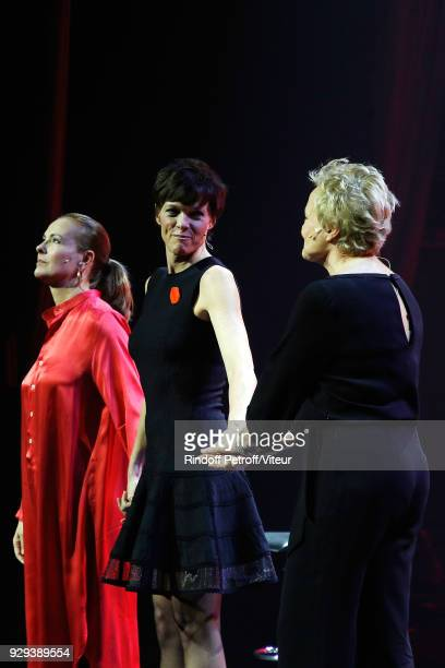 Carole Bouquet Anne Le Nen and Muriel Robin Perform 'Les Monologues du Vagin' during 'Paroles Citoyennes 10 shows to wonder about the society' at...