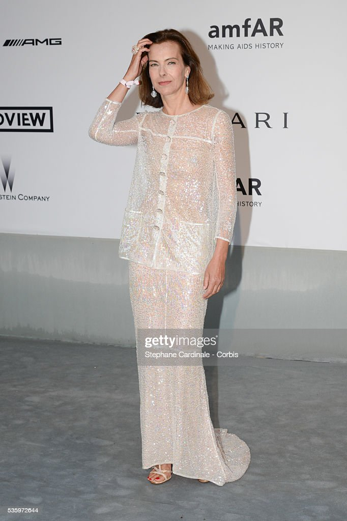 Carole Bouquet at the amfAR's 21st Cinema Against AIDS Gala at Hotel du Cap-Eden-Roc during the 67th Cannes Film Festival