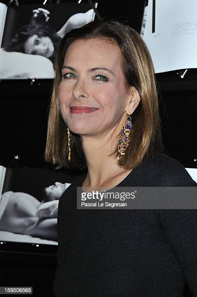 Carole Bouquet attends Chaumet's Cocktail Party for Cesar's Revelations 2013 on January 14 2013 in Paris France