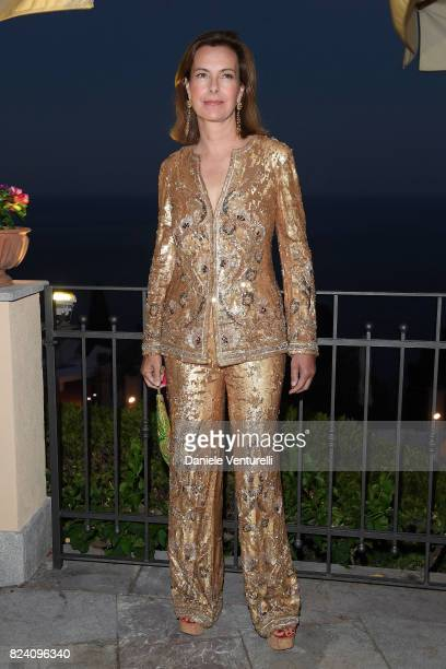Carole Bouquet attends Nations Award gala dinner on July 28 2017 in Taormina Italy