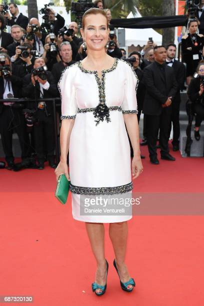 Carole Bouquet attends the 70th Anniversary of the 70th annual Cannes Film Festival at Palais des Festivals on May 23 2017 in Cannes France
