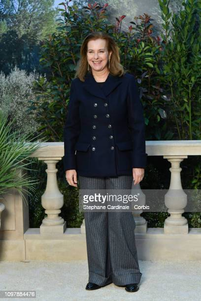 Carole Bouquet attends the Chanel Haute Couture Spring Summer 2019 show as part of Paris Fashion Week on January 22, 2019 in Paris, France.