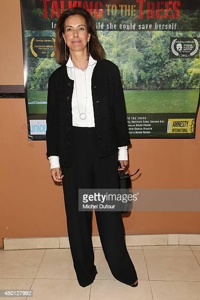 Carole Bouquet attends the 'Parle Avec Les Arbres' Paris Premiere on June 5 2014 in Paris France