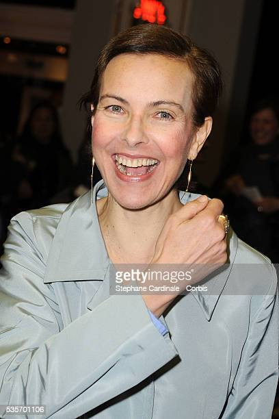 Carole Bouquet attends the Premiere of As you Like it directed by Sam Mendes at Marigny Theater in Paris