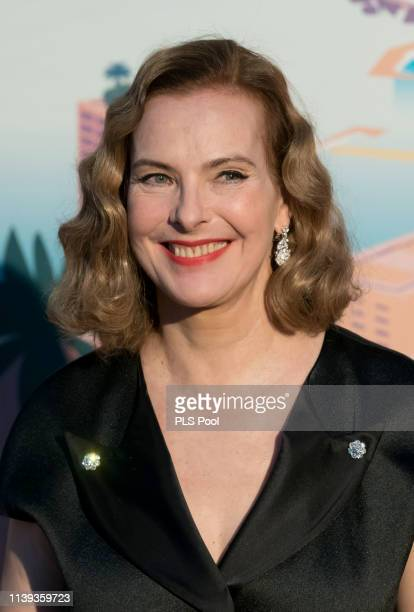 Carole Bouquet attends the Rose Ball 2019 to benefit the Princess Grace Foundation on March 30 2019 in Monaco Monaco