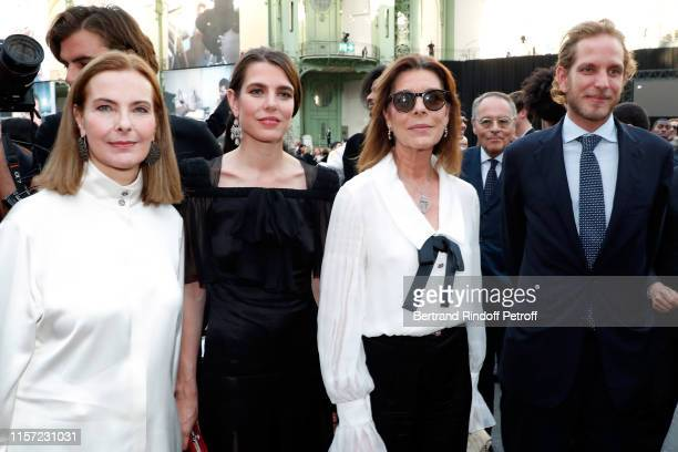 Carole Bouquet Charlotte CasiraghiRassam Caroline de Hanovre and Andrea Casiraghi attend Karl for Ever Tribute to Karl Lagerfeld at Grand Palais on...