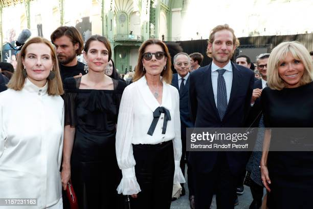 "Carole Bouquet, Charlotte Casiraghi-Rassam, Caroline de Hanovre, Andrea Casiraghi Brigitte Macronattend ""Karl for Ever"" Tribute to Karl Lagerfeld at..."