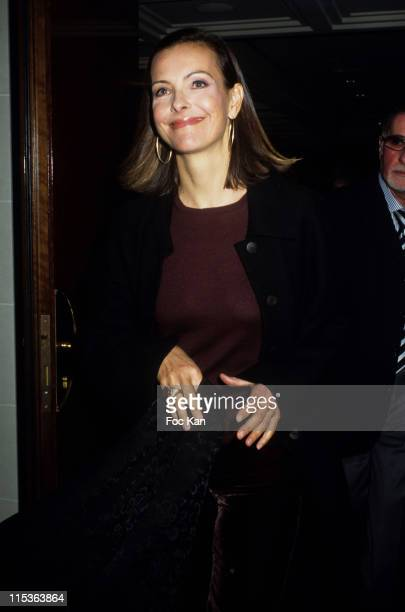 Carole Bouquet during Carole Bouquet Voice of the Childhood Press Conference at Four Seasons Georges V Hotel in Paris France