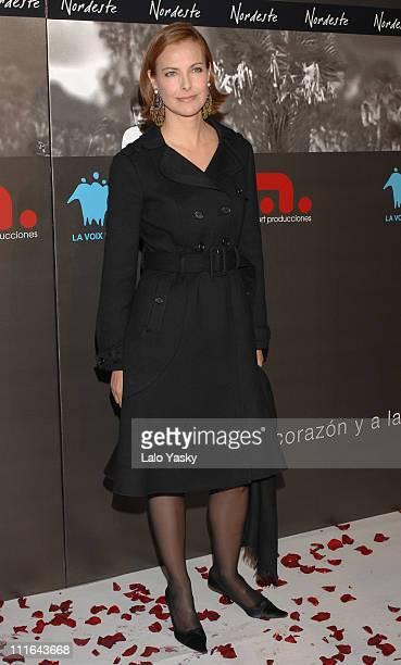 Carole Bouquet during 'Nordeste' Madrid Premiere at Palacio de la Musica Cinema in Madrid Spain
