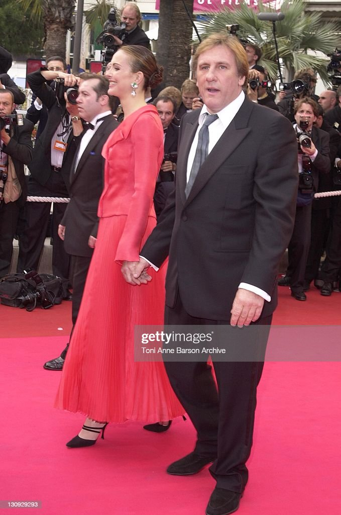 Carole Bouquet & Gerard Depardieu during Cannes 2001 - Apocalypse Now Premiere at Palais des Festivals in Cannes, France.