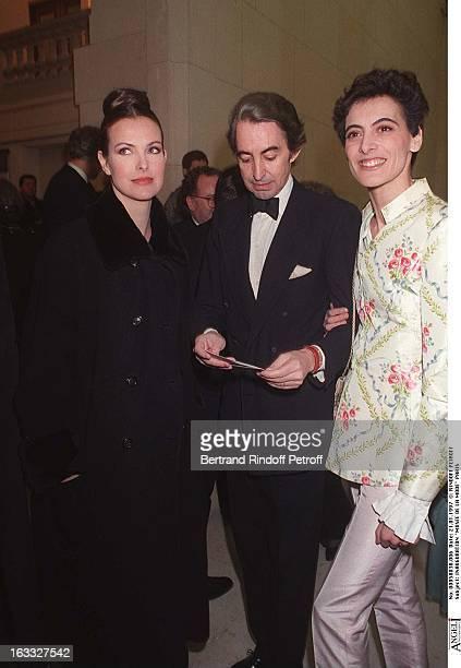 Carole Bouquet, Luigi D'Urso, Ines De La Fressange at theOpening Of Musee De La Mode In Paris.