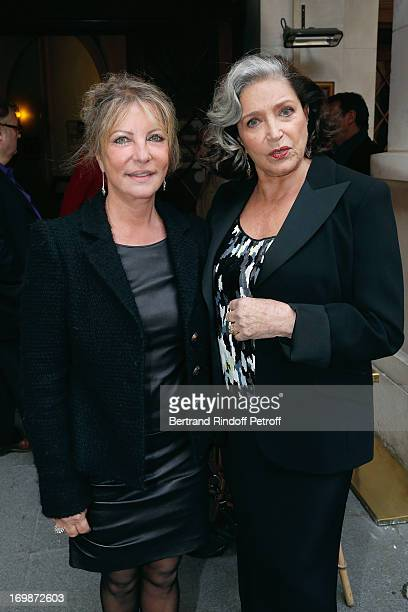 Carole Brenner and Francoise Fabian attend the delivery of the medal of the Legion of Honor to actress Francoise Fabian at Theatre Edouard VII on...