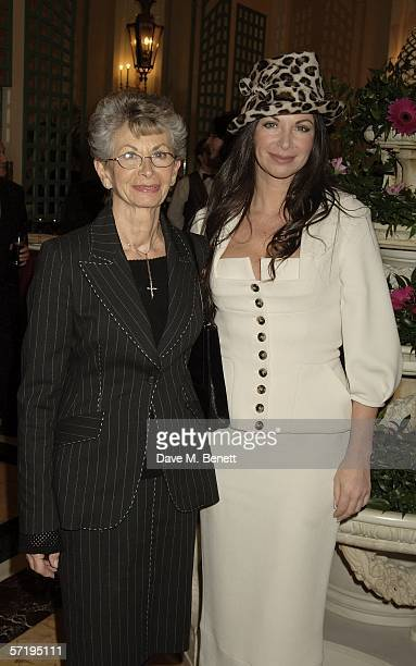 Carole Caplin and her mother attend the after show party following the press night for Whistle Down The Wind at Langan's Brasserie at the Hilton...